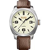 HUGO BOSS Men's 'CAPE TOWN' Quartz Stainless Steel and Leather Casual Watch, Color:Brown (Model: 1513411)