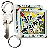 kc_181075 Florene - Music II - Image of art deco new orleans jazz poster - Key Chains