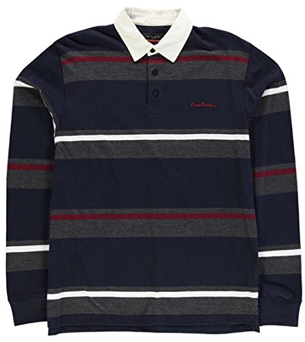 mens-casual-top-long-sleeve-rugby-polo-shirt-large-navy-char-m