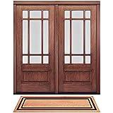 """DeCoir 73910 Classic Border Double Door Mat, 24 by 60"""", Black"""