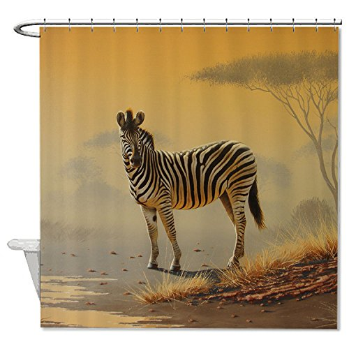 whiangfsoo-zebra-in-forest-print-print-artwork-soft-polyester-shower-curtain-for-bath-66x72