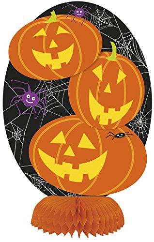 "8"" Mini Honeycomb Pumpkin Halloween Decorations, 8ct"