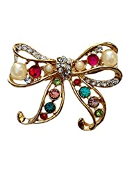 B-Fashionable Lace Bow Brooch