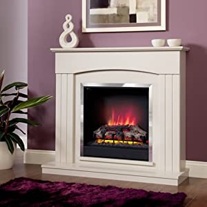 Electric Suite Fire Place - Be Modern Linmere - Almond Surround - Log Effect from Be Modern