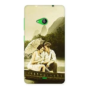 Ajay Enterprises Romantic Boating Back Case Cover for Lumia 535