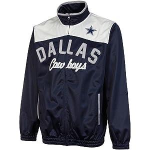 Dallas Cowboys Navy Contrast Yoke Track Jacket by G-III Sports