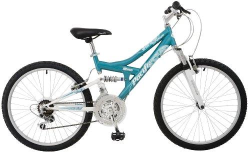 Pacific Chromium Girls' Dual-Suspension Mountain Bike (24-Inch Wheels)