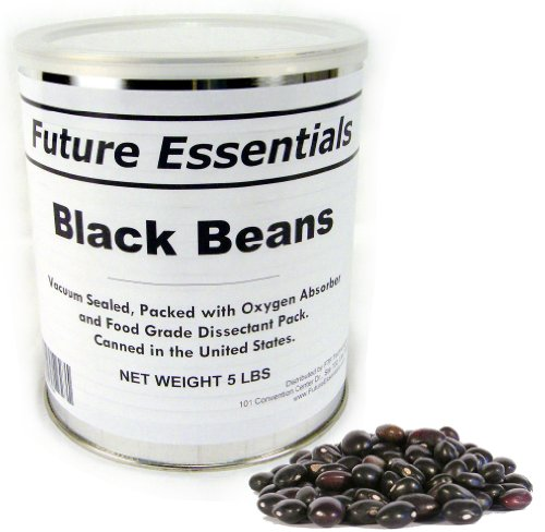 Future Essentials Black Beans 5lb #10 Can