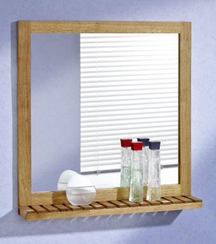 Wandspiegel-60x63-Walnussholz-mit-Ablage-Holz