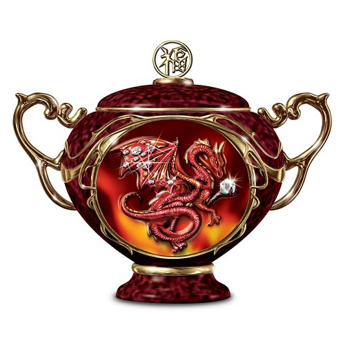 Good Fortune Chinese Red Dragon Collectible Music Box: Dragon Home Decor by The Bradford Exchange