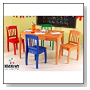 wood rectangle table with 4 chairs