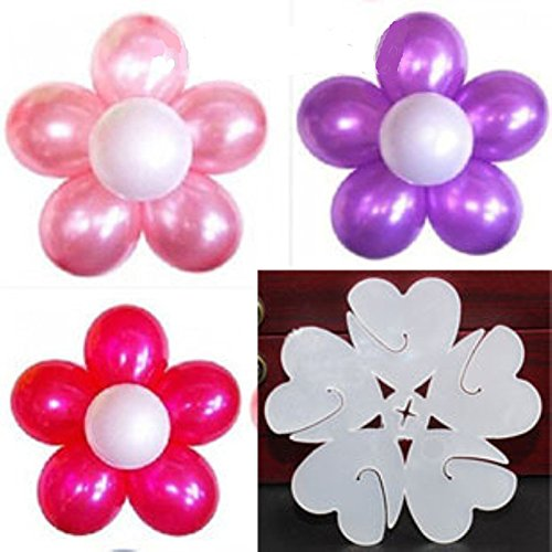 Wed2BB 25 pcs of Plastic Balloon Clips Closures - Make Flower design Balloon For Wedding Birthday Party Holiday Decoration