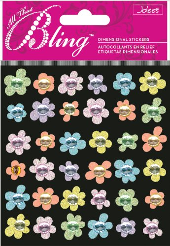 Jolee'S Boutique Bling, Baby Mini Flowers Bling Dimensional Stickers front-12899