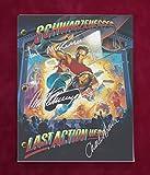 Last Action Hero Script w/Reproduction Signature Schwarzenegger and Dance C3