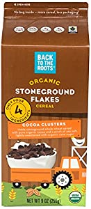 Back to the Roots Organic Stoneground Flakes Cocoa Clusters, 11 Ounce