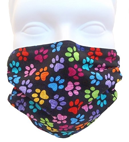 Breathe-Healthy-Face-Mask-Colorful-Paws-Design-Comfortable-Reusable-Filters-Dust-Pollen-Allergens-Flu-Germs-Ideal-for-Dog-Grooming