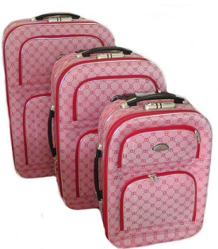 Designer Trolley Koffer Set 3 teilig mit Dehnfalte