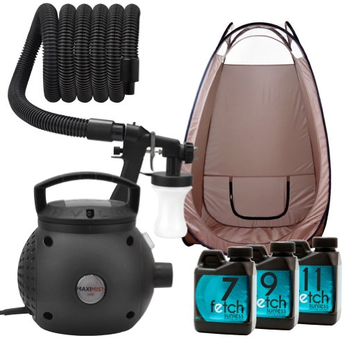 Maximist Lite Hvlp Spray Tan Machine Black Tent Fetch Sunless Dha Tanning Kit 2A front-777163