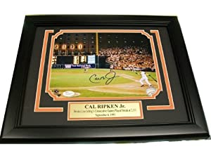 CAL RIPKEN JR AUTOGRAPHED 2131 8X10 PHOTO BALTIMORE ORIOLES FRAMED JSA