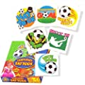 """Football Tattoos, pack of 24, assorted"""