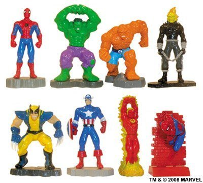 Marvel Super Heroes Buildable Mini Figures Capsule Toys - Vending Set of 8 (Miniature Human Figures compare prices)