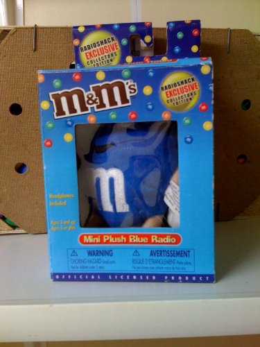 M & M'S Mini Plush Radio W/Headphones