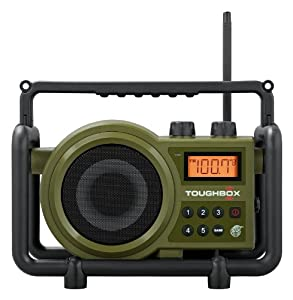 Sangean Tb-100 Toughbox Am/fm/aux-in Ultra Rugged Digital Tuning Rechargeable Radio Green