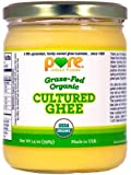 Grassfed Organic Cultured Ghee 14 Oz. - Pure Indian Foods(R) Brand
