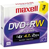 Maxell 3-Pack 4.7 GB DVD Plus Rws 634043