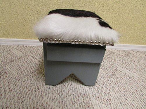JL Cowhide Creations Adorable Little Cowhide Footstool