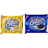 Nabisco, Oreo, Birthday Cake Creme, Golden Cookie Limited Edition, 15 ...