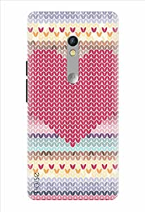 Noise Red Mosiac Printed Cover for Motorola Moto X Play
