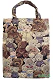 Handy Tote Tapestry (small) Shopping Bag (Gobelin Style) Teddy Bears
