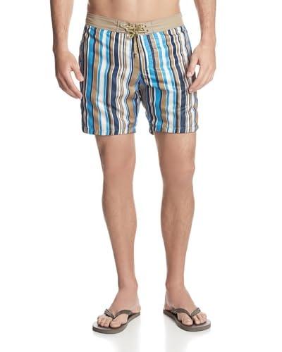 Mr. Swim Men's Angled Stripes Board Shorts