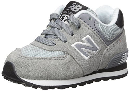 New Balance KL574V1 Infant Core Plus Fashion Sneaker (Infant/Toddler), Grey/Black, 5 M US Toddler (New Balance Baby Shoes compare prices)
