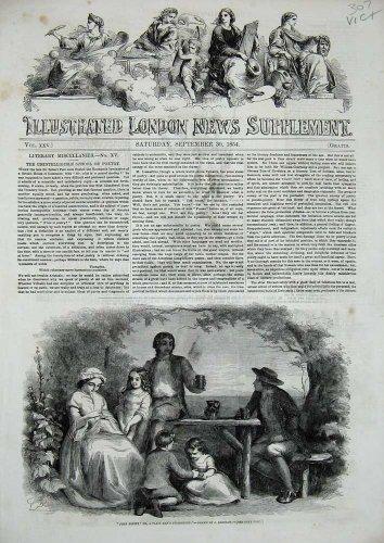 1854 John Brown Family Children Table Chair Drinks Art