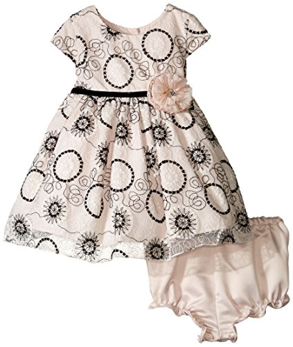 Pippa & Julie Baby-Girls Infant Embroidered Lace Dress