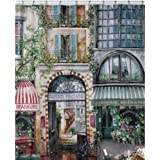 "Creative Bath Products Rue Di Rivoli Shower Curtain 72"" X 72"""