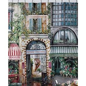 Creative Bath Products Rue Di Rivoli Shower Curtain