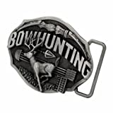 Bow Hunter Deer Buck Hunting Belt Buckle Western