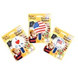 Baby Buddy American Baby Pacifier Holder, US Flag, I Love USA, God Bless America, 1-Pack