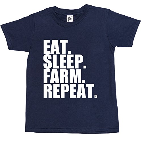 eat-sleep-farm-repeat-farming-farmers-tractor-kids-boys-girls-t-shirt-size-3-4-year-old-colour-navy-