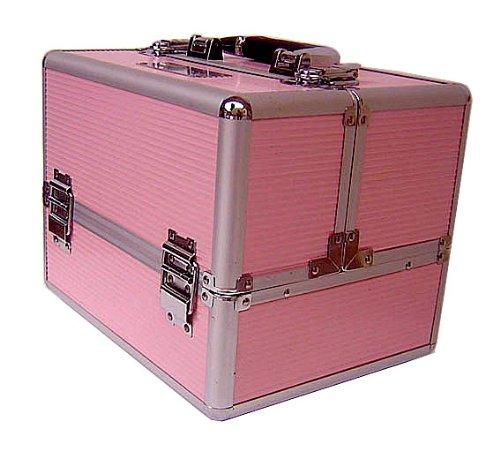 Mollycoddle Professional Pink Aluminium Cosmetics & Make up Beauty Case