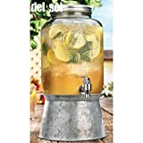 Home Essentials Del Sol 2 Gallon Drink Dispenser w/ Steel Base
