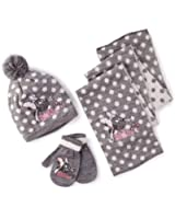 Disney Minnie Mouse Girls Hat, Scarf and Mittens Set