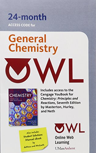 OWL with Student Solutions Manual 24-Months Printed Access Card for Masterton/Hurley/Nerth's Chemistry: Principles and R
