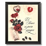 Motivational Poem Mother Hispanic Spanish Home Decor Wall Picture Black Framed Art Print