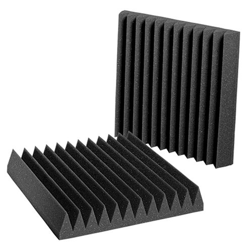 Auralex Studiofoam Wedgies 2 Inches Thick And 1 Foot By 1 Foot Acoustic Absorption Foam, Charcoal, 24-Count