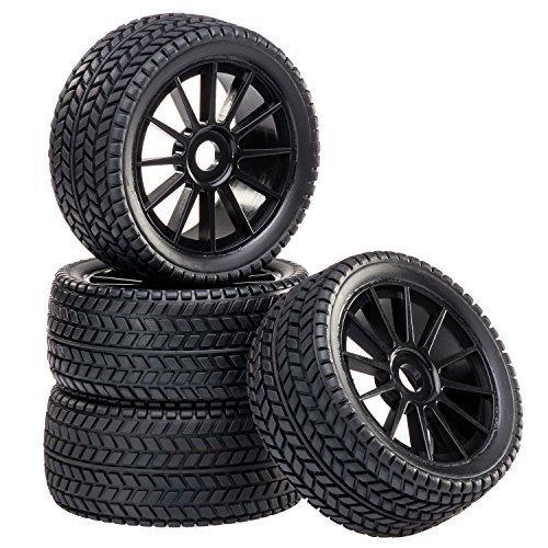 Buggy Ruote Set cerchioni Street con 10 - ruote nero 1:8 partCore 320020