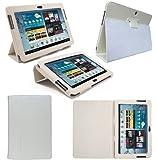 Etui Housse Luxe Blanc pour Samsung Galaxy Tab 2 10.1 P5110 + Stylet Gratuit